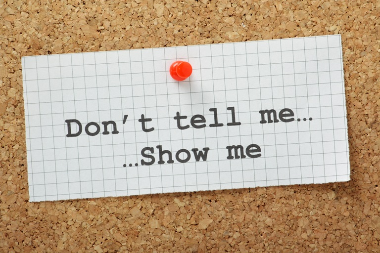 Your Brand On LinkedIn: Don't Tell Me, Show Me